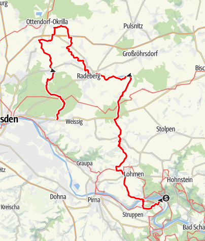 Karte / Lausitzer Schlange - Variante Dresdner Heide