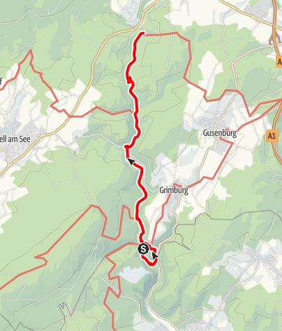 Karte / Saar-Hunsrück-Steig - 07. Etappe: Grimburgerhof – Reinsfeld