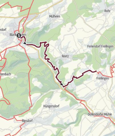 Karte / AhrSteig Etappe 1: Blankenheim bis Freilinger See (11,1 km)