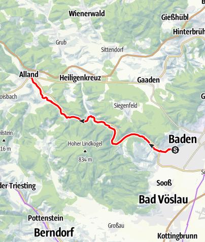Mapa / Helenentalradweg