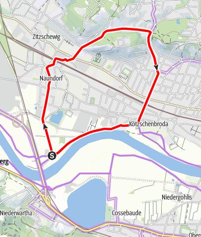 Karte / Rundweg Lindenau