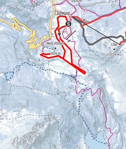 Map / Maloja - Aela - Orden - Maloja