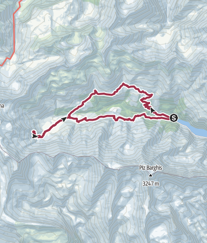 Karte / Calfeisental-Rundtour im Welterbe Sardona
