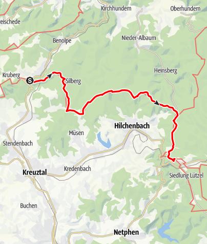 Map / Siegerland-Höhenring Etappe 6: Rahrbacher Höhe - Hilchenbach