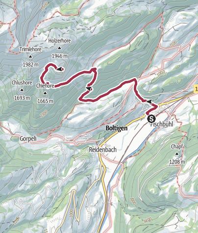 Map / Von Boltigen auf die Mittagfluh
