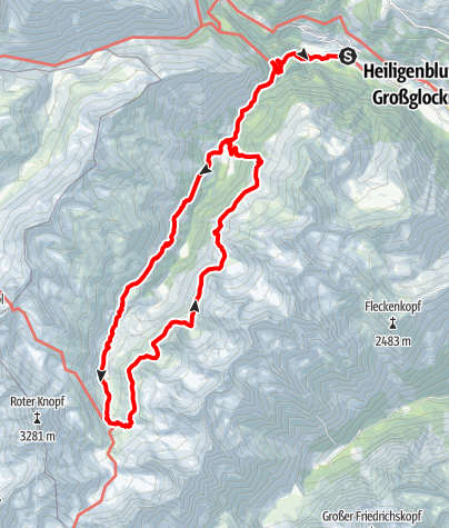 Karte / Langtalseen - Elberfelderhütte - Rundweg