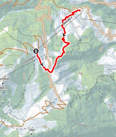 """Karte / Flowline """"Tschengla Unchained""""   Bikepark Brandnertal"""