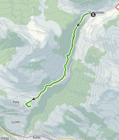 Karte / Von St. Antönien nach Pany