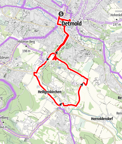 Kaart / Geschichte erleben in Detmold
