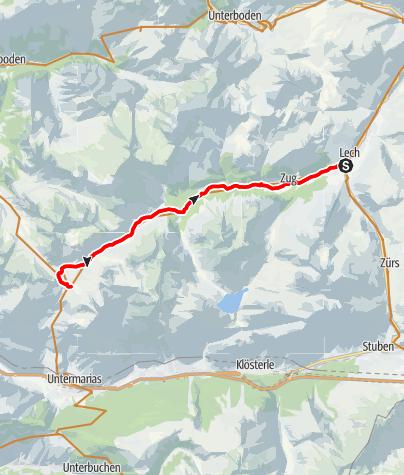 Karte / Zum Formarinsee | Lech