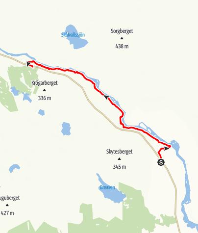 Karta / Helgonleden, Hovra till Lassekrog