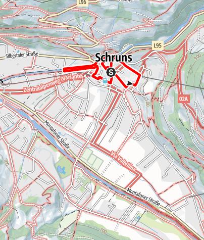 Karte / Kulturweg Schruns