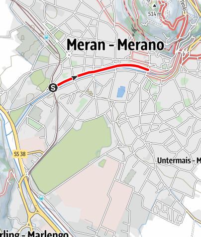 Mappa / Passeggiata Lungo Passirio Merano