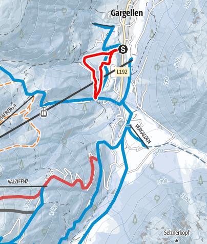 Map / Gargellner Fenster Schneeschuhwanderweg