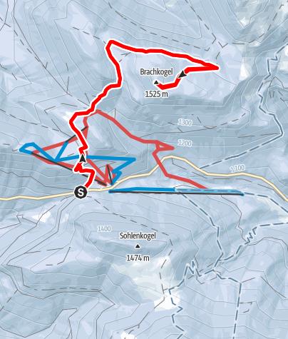 Karte / Schneeschuhtour Brachkogel - Ochsenboden im Naturpark Mürzer Oberland