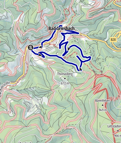 Karte / Wanderung zum Habererturm in Bad Peterstal-Griesbach