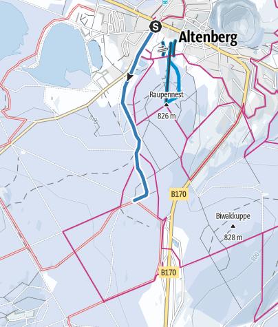 Karte / Z1 - Loipenzubringer 1 - Altenberg/Kahleberggebiet