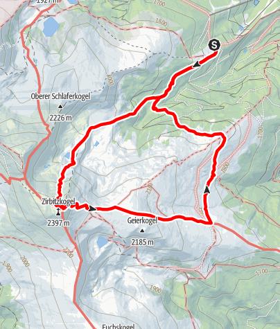 Map / Von der Sabathyhütte eine Runde um den Zirbitzkogel