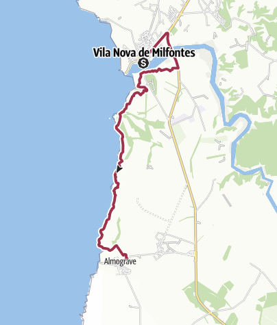 Map / Vila Nova de Milfontes nach Almograve
