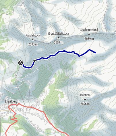 Kaart / Wandelen en meerdere klettersteigtochten in Engelberg