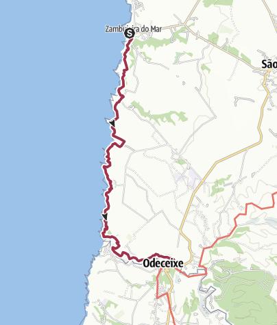 Map / Zambujeira do Mar nach Odeceixe