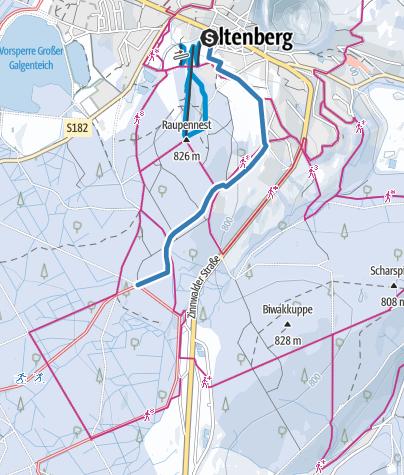 Karte / Z2 - Loipenzubringer 2 - Altenberg/Kahleberggebiet