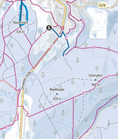 Karte / Z3 - Loipenzubringer 3 - Altenberg/Scharpitze