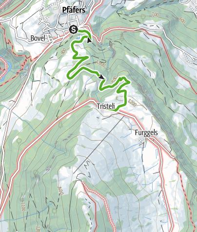 Map / Pfäfers - St.Margrethenberg