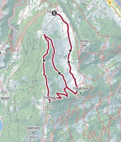 Karte / Alp Maton - Chimmispitz