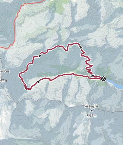 Map / High-altitude hike Calfeisental valley