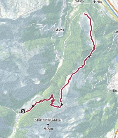 Map / Vättis - Salaz - St.Margrethenberg