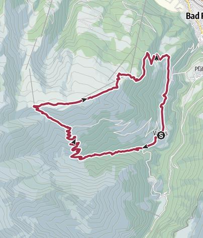 Karte / Valens - Pizolhütte