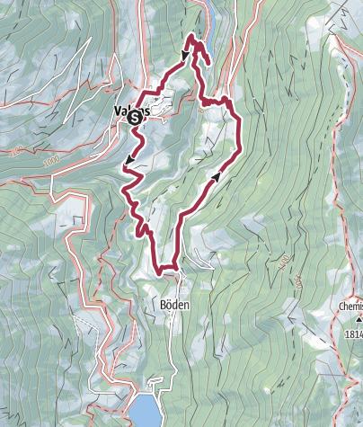 Karte / Naturbrücke in der Taminaschlucht
