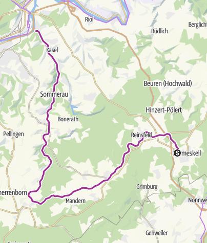 Kaart / Ruwer-Hochwald-fietsroute