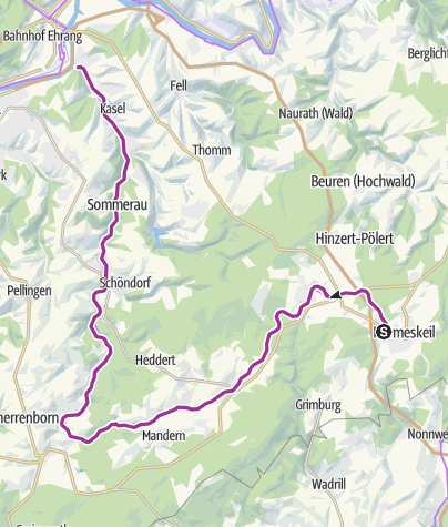 Map / Ruwer-Hochwald-Radweg
