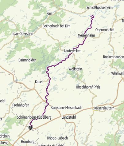 Karte / Waldmohr - Staudernheim - Glan-Blies-Radweg