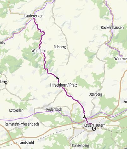 Karte / Lautertal-Radweg - von Kaiserslautern nach Lauterecken