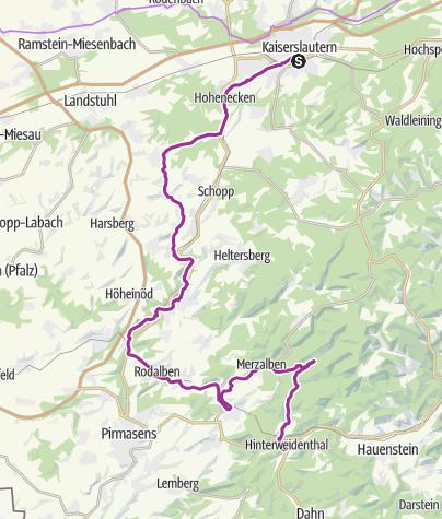 Karte / Pfälzerwald-Tour