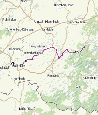 Karte / Südwestpfalz-Tour