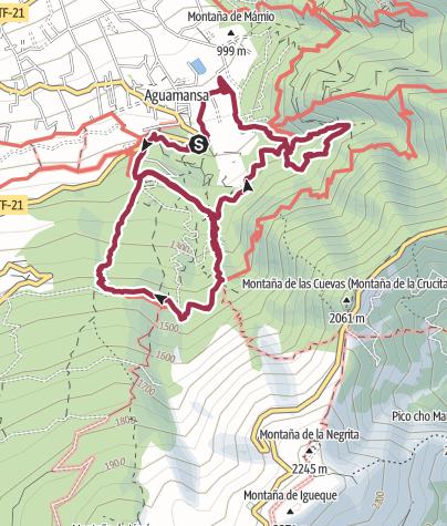 Karte / Wanderung im Orotava Tal