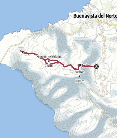 Map / Der Wilde Westen von Teneriffa: El Palmar