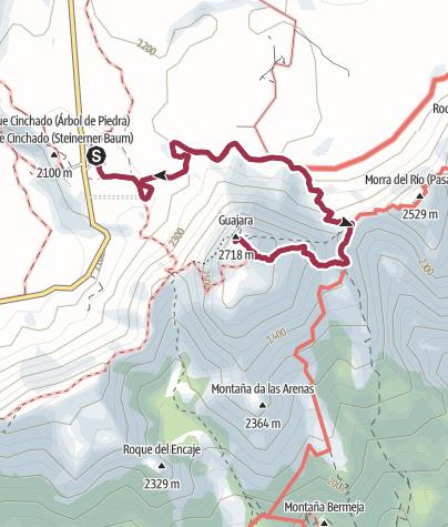 Map / Rundwanderungen ab Las Cañadas del Teide Guajara