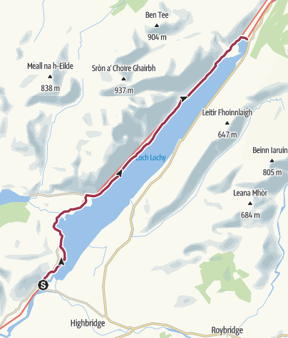 Karte / Wanderung nach Laggan
