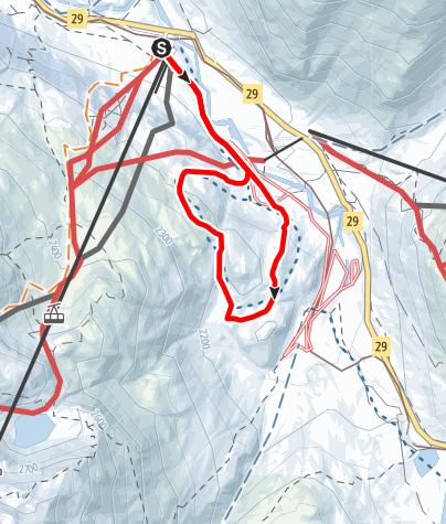 Map / Schneeschuh-Trail Alp Bondo