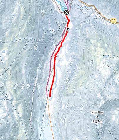 Map / Schneeschuh-Trail Morteratsch
