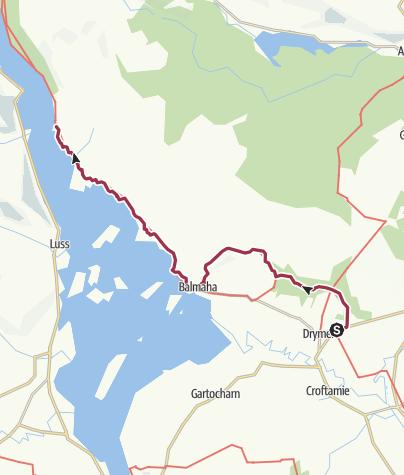 Map / Wanderung nach Rowardennan