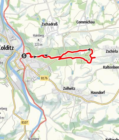 Karte / Wanderung durch den historischen Tiergarten Colditz