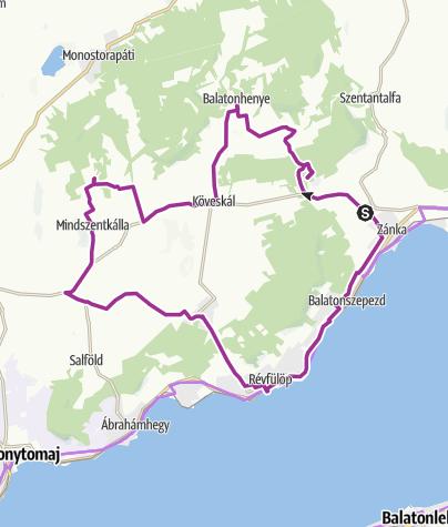 Map / Tanúhegyek lábainál a Káli-medencében