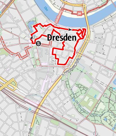 Karte / Dresden Highlight Route