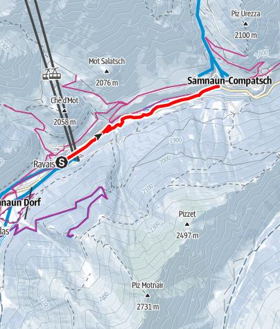 Karte / Schneeschuhtrail 4 (ST 4)